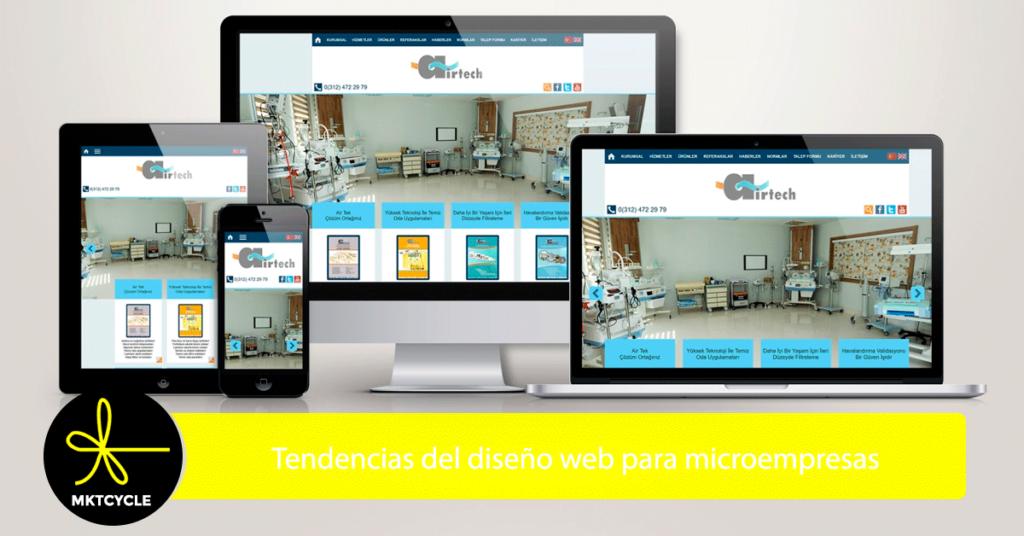 Tendencias del diseño web para microempresas